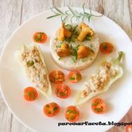 Papryka nadziewana mięsem mielonym z kaszą i kurkami