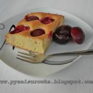 Ciasto ucierane ze śliwkami - przepis