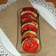 Cukinia z pomidorami czyli pyszna przekąska na ciepło