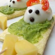 Jajeczne myszki dla maluchów (ciałem i duchem) z pastą z awokado