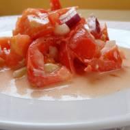 Pomidory z cebulką w oleju arganowym
