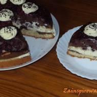 Ciasto wiśniowe z kremem