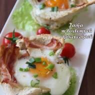 Jajka w tostowych koszyczkach