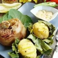 Golonka z dipem, ziemniakami w chrzanie i Pilsnerem