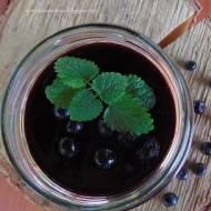 Domowy kisiel jagodowy.