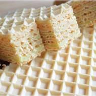 Andruty (wafle) z masą galaretkową