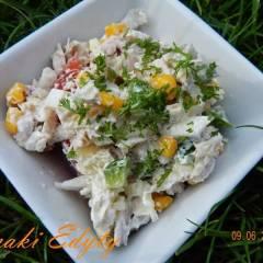 gotowany kurczak