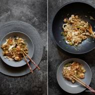 Stir fry z tofu i krewetkami