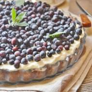 Tarta z borówkami i frużeliną z wiśni