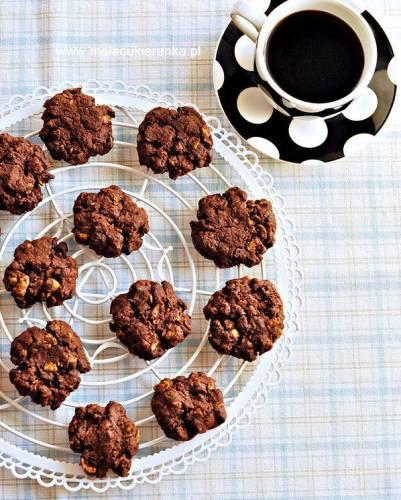 Chrupiące ciastka czekoladowe