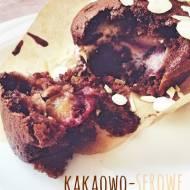 Kakaowo-serowe muffinki ze śliwkami
