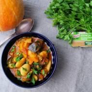 Prosty gulasz warzywny - fasola Piękny Jaś, dynia i bakłażan