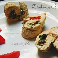 Drobiowe roladki ze szpinakiem i serem feta