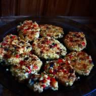 Wegetariańskie fit kotlety z kaszy jaglanej (porcja ok. 435 kcal)