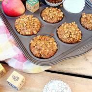 Muffiny pełnoziarniste z jabłkami ( na jogurcie naturalnym )