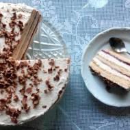 Tort z dżemem i czekoladą