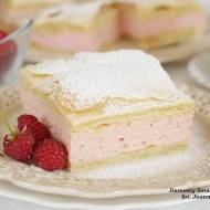ciasto francuskie z masą malinową