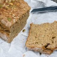 Chleb pełnoziarnisty bez drożdży i zakwasu - prosty przepis.