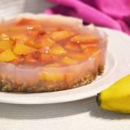 wegańskie ciasto gryczane z nektarynkową galaretką