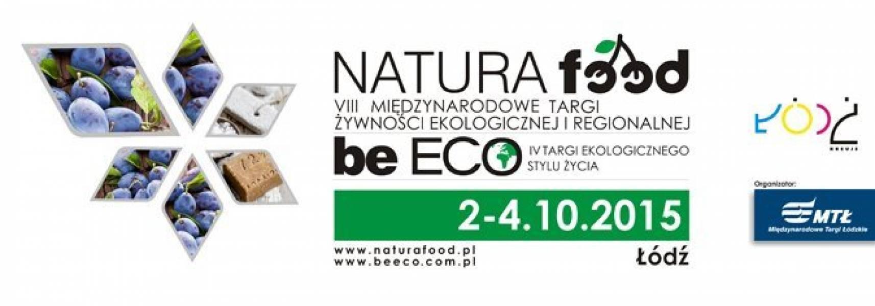 Zaproszenie na Międzynarodowe Targi Żywności Ekologicznej i Regionalnej NATURA FOOD 2015