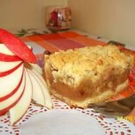 Ciasto z pieczonymi jabłkami i kruszonką