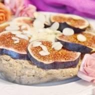 ciasto konopno-kokosowe z musem tofu-śliwkowym