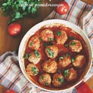 Drobiowe klopsiki w sosie pomidorowym