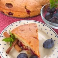 Ciasto ze śliwkami z mąki orkiszowej