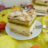 Ciasto z bakaliami kremem budyniowym i masą jabłkową