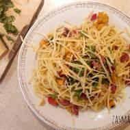 Spaghetti z dynią i chilli