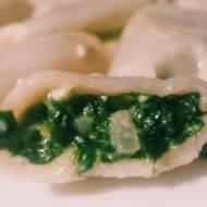 Pierogi ze szpinakiem i serem feta (Dumplings with spinach and feta cheese)