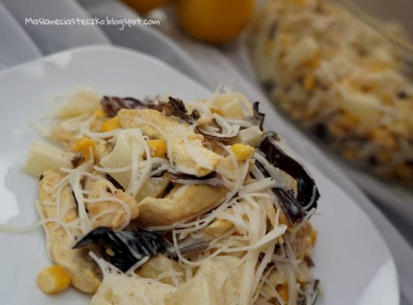 Przepis Na Salatka Z Makaronu Ryzowego Z Ananasem Kurczakiem I