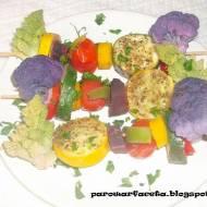 Szaszłyki warzywne na parze