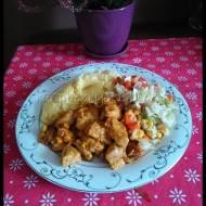 Kurczak w carry + wykorzystanie paluszków serowych cheese snack :)