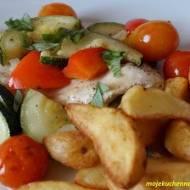 Kurczak z pieczonymi warzywami