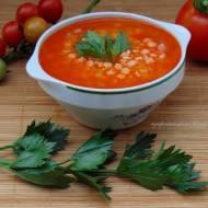 Zupa pomidorowa ze świeżych pomidorów.