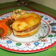 Mięso mielone zapiekane w ziemniakach