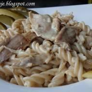 Kurczak z Makaronem Orkiszowym, czyli bardzo łatwy obiad