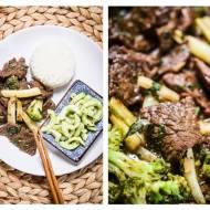 Wołowina z fasolka i brokułem z woka