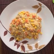 Risotto z marchewką, kukurydzą i koperkiem