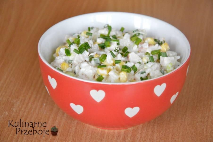 Przepis Na Salatka Z Wedzonym Kurczakiem Ryzem I Ananasem