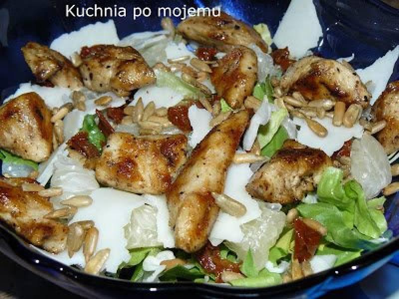 Przepis Na Salatka Z Pomelo I Kurczakiem Na Kolacje Bez Chleba