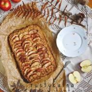 Rustykalna tarta owsiana z jabłkami i cynamonem