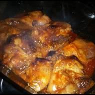 Kurczak duszony  w zalewie miodowo - musztardowej