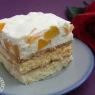 Ciasto podwójnie cytrynowe z brzoskwiniami
