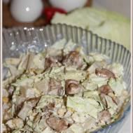 Sałatka z kurczaka i kapusty pekińskiej