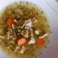 Zupa a la flaczki zwana flaczkami z kurczaka.