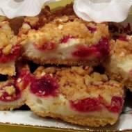 Ciasto malinowo- budyniowe