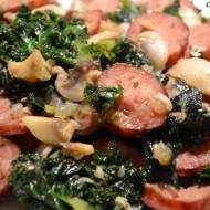 Gibki mitag ze jarmużym (Szybki obiad z jarmużem)