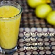 Koktajl wzmacniający odporność. Jabłka+cytryna+pomarańcza.